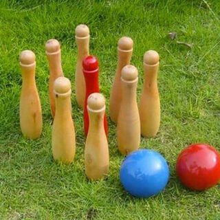 Outdoor Wooden Bowling