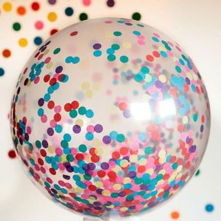 Clear balloon with confetti -helium filled