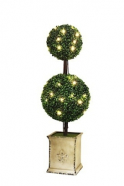 Topiary tree - round with fairy lights