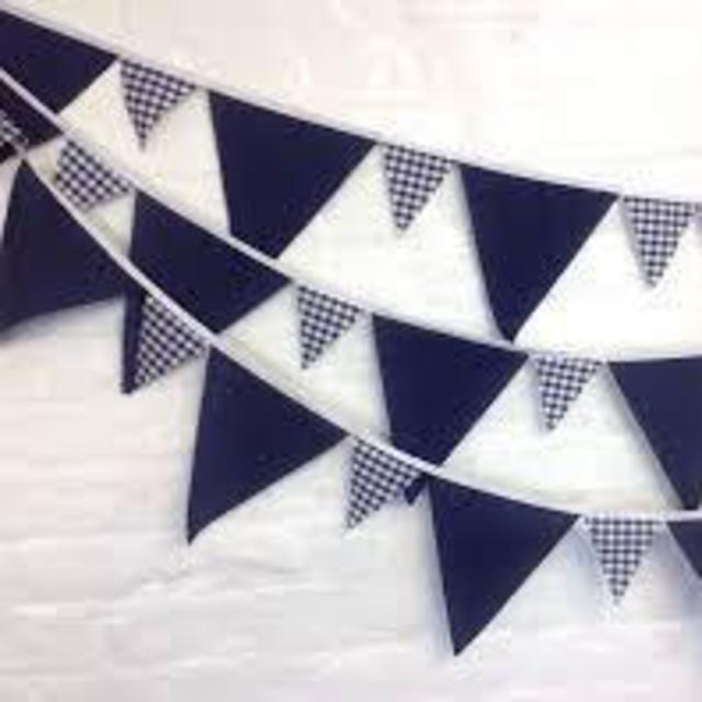 Navy Blue Bunting