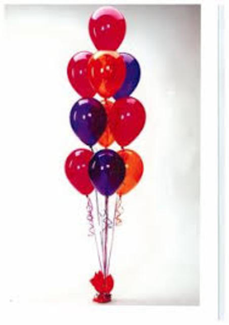 Bunch of 10 Helium Balloons